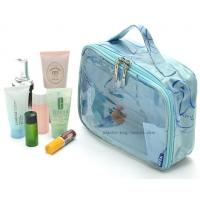 Buy cheap Lady See-through PVC Tote Cosmetic Pouch Clear Vinyl Make-up Pouch Handbag from wholesalers