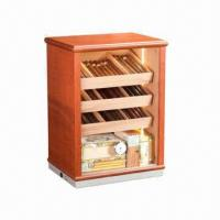 Quality Cigar Display Humidor Cabinet, High Gloss Finish Lined with Spanish Cedar for sale