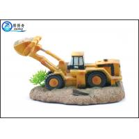 Buy Excavator Shaped Resin Aquarium Ornaments For Cool Fish Tank Decorations at wholesale prices