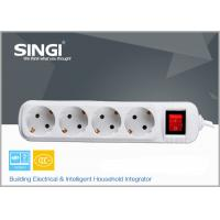 Quality Smart 4 gang adaptor intelligent power strips with CE certificate for sale