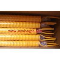 Quality High spring memory PU coil tube with SGS standards, OD8mm, color Yellow for sale