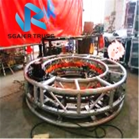 Quality 2m 6.5ft Diameter DMX Control Rotating Stage Truss For Night Bar Club for sale