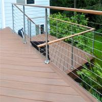 Buy cheap Brand new stainless steel handrail design for stairs with wire rope design from wholesalers