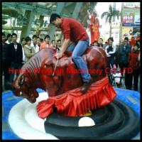 Quality Giant Mechanical Rodeo Bull With Inflatable Mattress Interactive Game In Amusement Park for sale