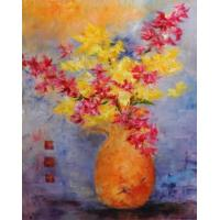 Quality crystal flower painting art painting room wall art painting for sale