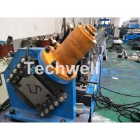 Quality PLC Electrical Control Hat Profile Cold Roll Forming Machine With 1.5 Inch Chain Transmission for sale