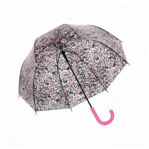 Quality Mushroom Floral Victoria Clear Full Cover Umbrella Transparent Eco POE for sale