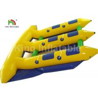 Quality 6 Person Seat Inflatable Flying Fish Tube Banana Boat For Summer Sport Water Game for sale