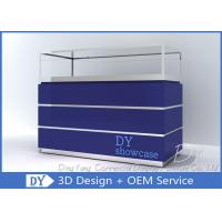 Buy Wooden Blue Lacquer Large Storage Jewellery Shop Display Counters at wholesale prices