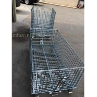 Quality Customized Galvanized Collapsible Wire Cage Conveyable With Casters 6mm Thickness for sale