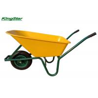 China 85L China heavy duty wheelbarrow with plastic tray 100kg wheel barrow on sale