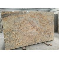 Quality Golden Yellow Stone Granite Slabs , 2.72g / Cm³ Density Large Stone Slabs for sale