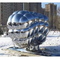 Quality ODM Modern Abstract Metal Sculpture Stainless Steel Metal Outdoor Decoration for sale