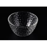 Quality Wide Mouth Glass Candle Bowl , Clear Galss Candle Container for sale