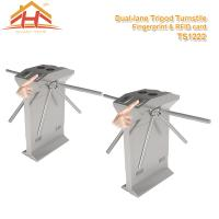 Quality Speed Gate Office Pedestrian Access Control Turnstile , Stainless Steel Turnstiles for sale