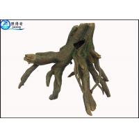 Quality Smooth Bark Realistic Tree Stump Aquatic Ornament Large Fish Tank Decorations for sale