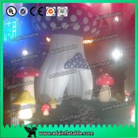 Quality Red Yellow Purple Decoration Standing Inflatable Mushroom With led Giant for sale