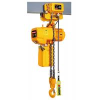 Yellow Color Push Travel Trolley , Heavy Duty Electric Chain Hoist for sale