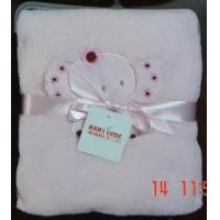 Quality Embroidery Coral Fleece Baby Blanket for sale
