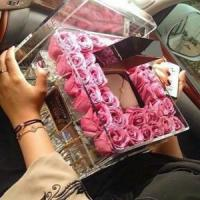 Buy cheap Wedding decoration acrylic flower display container / clear acrylic rose box from wholesalers