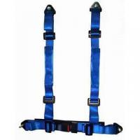 Quality Durable Blue Nylon Racing Safety Belts With Retractor , Four Point Seat Belt for sale