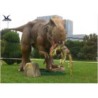 Quality Handmade Dinosaur Lawn Statue Length 3.5M-4M Dinosaur Realistic Model for sale