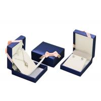 Buy Mens PU Leather Cardboard Jewelry Boxes Bulk Ring Gift Box With Removable Drawer at wholesale prices