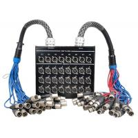 Buy 32 Channel XLR Stage Box Snake Cable DSS24X8-30M / M24-10M , Splitter Snake at wholesale prices