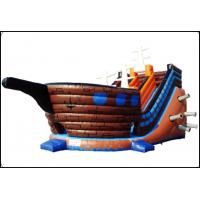 Pirateship Inflatable Slide Bouncy With Pool For Kids Jumping Beautiful And Good Quality