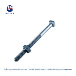 Quality HDG MB Machine ISO 9001 Square Head Nuts And Bolts for sale