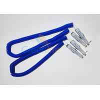 Quality Plastic Stretchy Dental Scarfpin Coiled Cord Blue Color 30CM Long Custom Logo Printing for sale