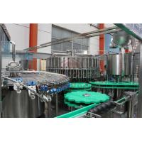 Quality Glass Bottle Juice Filling Line / Fruit Juice Bottling Capping Equipment for sale