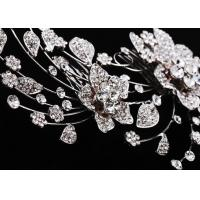 China Crystal, Rhinestone Party Wedding Bridal Flower Hair Comb jewelry for Children, Women on sale