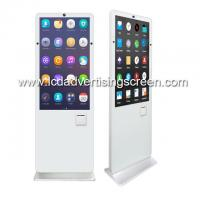 China Floor Standing LCD Touch Screen Display With Dual Side Camera Support POS Payment Printer on sale