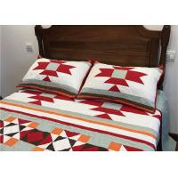 Quality Patchwork Geometric Bedding Sets , Quilting Handmade Twin Bed Sets For Adults for sale