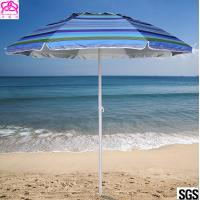 Quality Steel Frame Outdoor Parasol Umbrella UV Protection For Sandy Beach Sunshade for sale