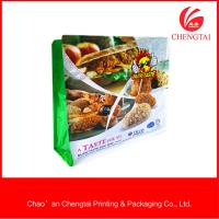 Quality Fast Food Packaging Flat Bottom Pouches Oxygen Resistance Flat Bottom Bags for sale