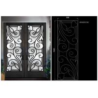 China Top Notch Security Easy Cleaning Inlaid Door Wrought Iron Glass on sale