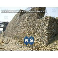 Quality Galvanized Gabion Box Retaining Walls / Gabion Stone Basket Fence for sale