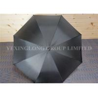 Quality Fashionblack Long Handle Umbrella , Big Golf Umbrella Promotional Gifts for sale