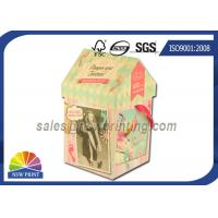 Quality Personalized House Shaped Rigid Decorative Paper Boxes Presentation Box With Ribbon for sale