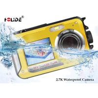 Quality Waterproof Dual Screen Underwater Digital Compact Camera  Rechargeable Li - Ion Battery for sale