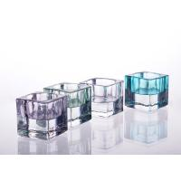 Quality Square Tealight Candle Holder Glass Replacement For Decoration for sale