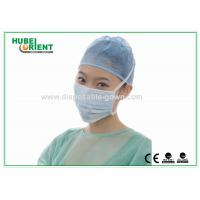 China Colored Disposable Face Mask , Disposable Surgical Masks with Tie On on sale