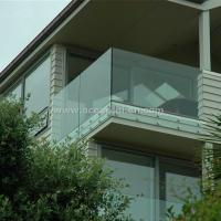 Quality Safety Frameless Toughened Glass Railing withStainless Steel Standoff for sale