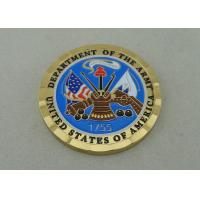 Quality Brass Die Stamped Custom Military Coins Hard Enamel And Diamond for sale