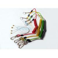 Buy Stainless Wire Reinforced Plastic Coil Lanyard Custom Colored PU Cover at wholesale prices