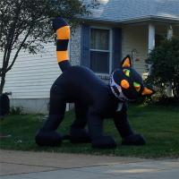 Quality Black Inflatable Cat, Halloween Event Inflatable Cat Decoration,Inflatable Cat Costume for sale