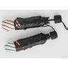 Buy cheap Stripe wavy edge 3 Fold Umbrella double folding sunshade black plastic sunscreen from wholesalers