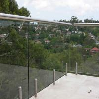 Buy Flooring mount Swimming Pool Tempered glass balustrades with steel spigots at wholesale prices